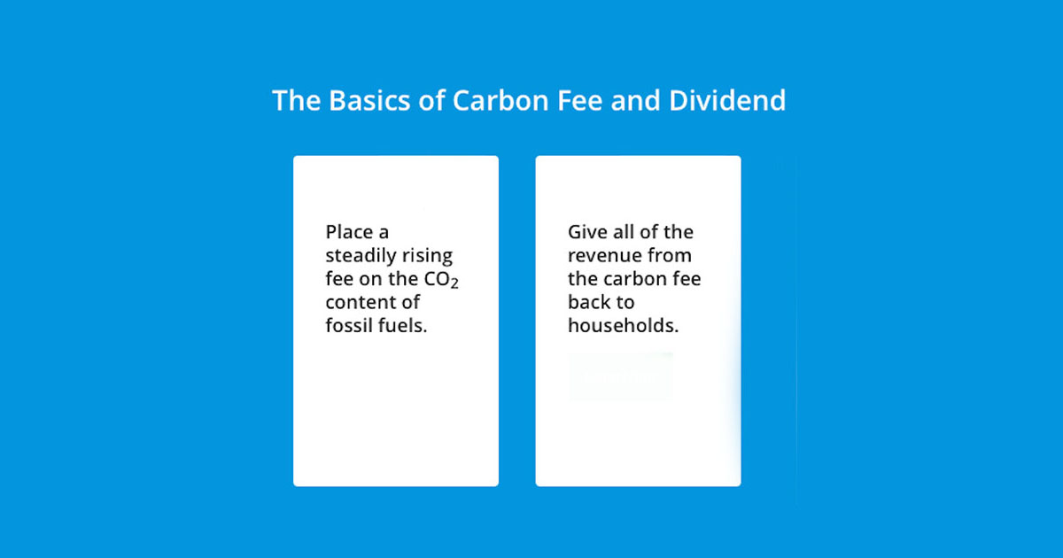 What is a Carbon Fee and Dividend - Take Action