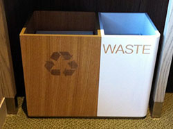 Green Hotel Guest Room Recycling Bin